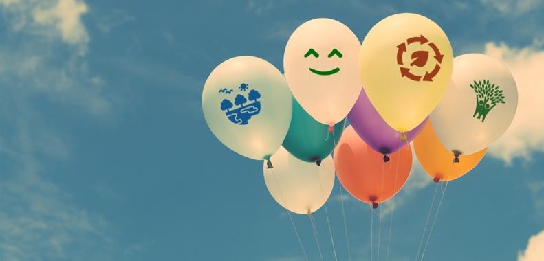 Festa con i palloncini ecologici