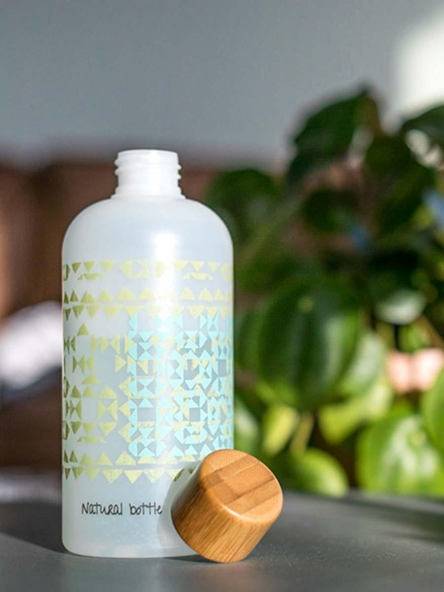 Bottiglia bamboo e zucchero di canna personalizzata